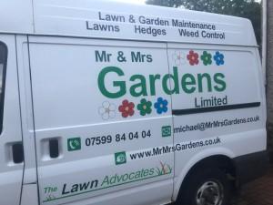 Mr & Mrs Gardens Limited van 2