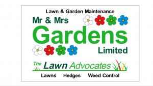 Mr & Mrs Gardens business card