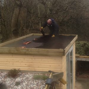 shed roof water matting
