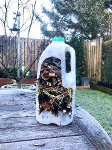 Milk Carton Bug Hotel - How to get Kids Gardening
