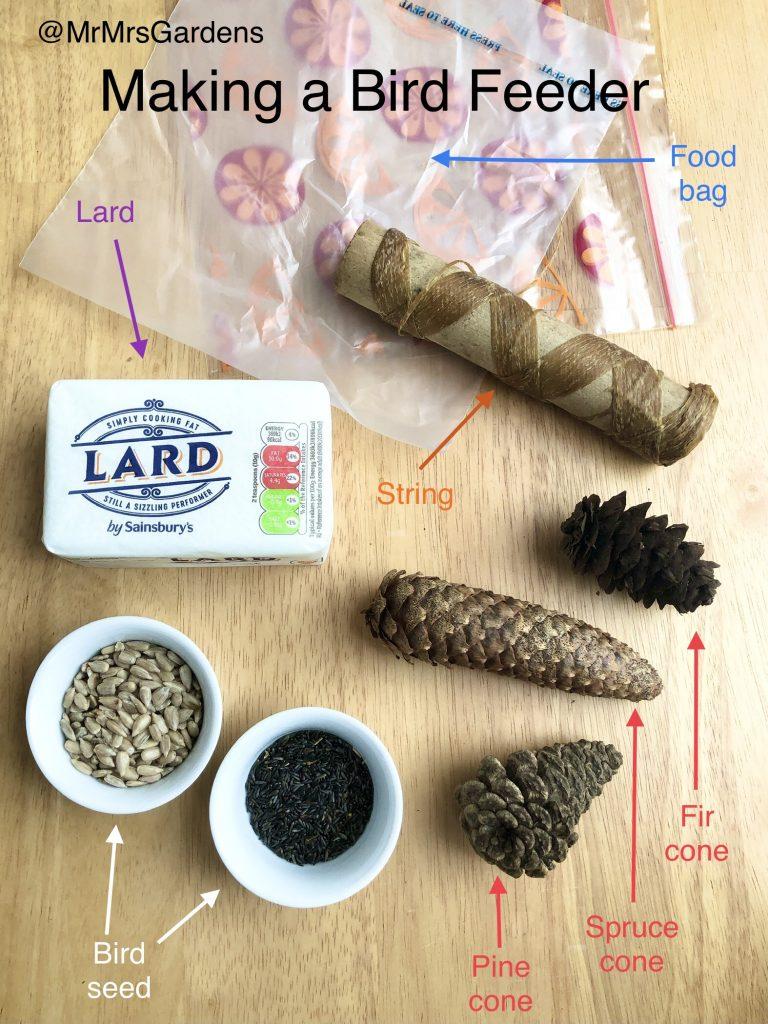 Making a Tree Cone bird Feeder - How to Get Kids Gardening
