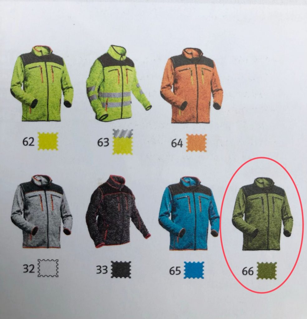 Pfanner clothing - Protos Inuit Jacket green colour in brochure